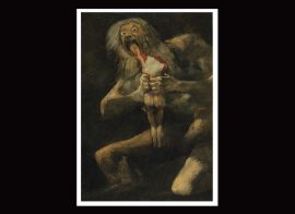 El pintor Francisco de Goya también representó la ambición voraz de este despiadado personaje de la mitología griega. (Wikipedia)