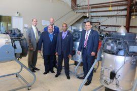 Desde la izquierda: John Sankovic (NASA), José Planas (al frente), Carlos Ruiz, Wilmer Arroyo (IAAPR) y Rubén Del Rosario (NASA). (Suministrada)