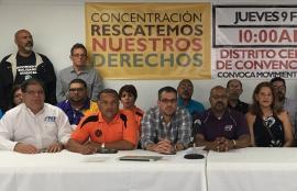 Foto-conferencia de movimiento obrero