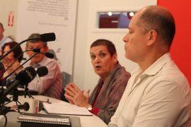 La profesora Silvia Álvarez Curbelo y Jorge Colón Rivera. (Adriana De Jesús Salamán/ Diálogo)