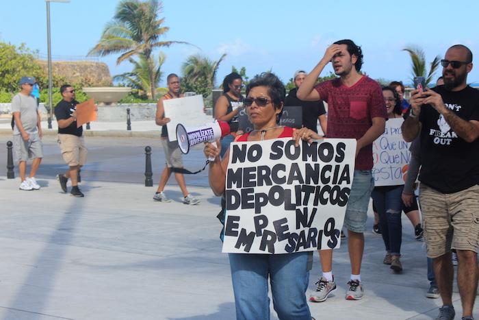 Manifestación en el Capitolio en contra de la Reforma Laboral. (Glorimar Velázquez/ Diálogo)