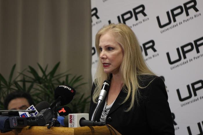Nivia Fernández Hernández, presidenta interina de la UPR. (Ronald Ávila / Diálogo)