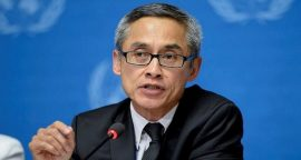 El jurista tailandés Vitit Muntarbhorn, el experto independiente de la ONU sobre Orientación Sexual e Identidad de Género. (ONU)