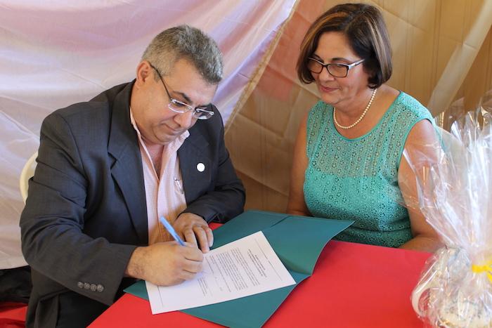En la foto Nelson Vera y Madeline Pérez