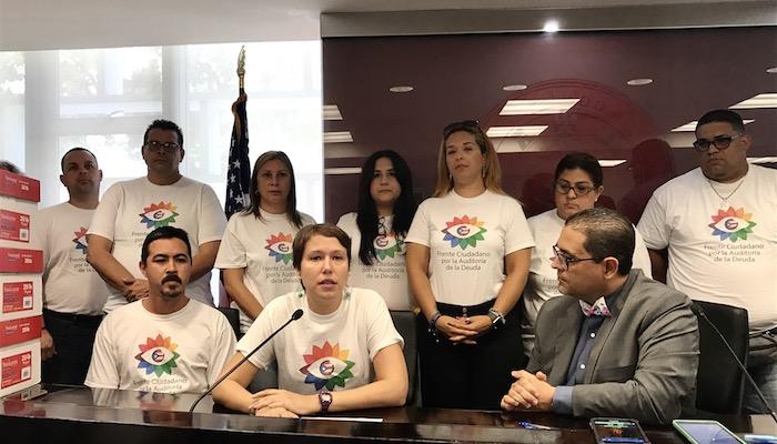Conferencia de prensa Frente Ciudadano por la Auditoría de la Deuda. (Adriana De Jesús Salamán/ Diálogo)