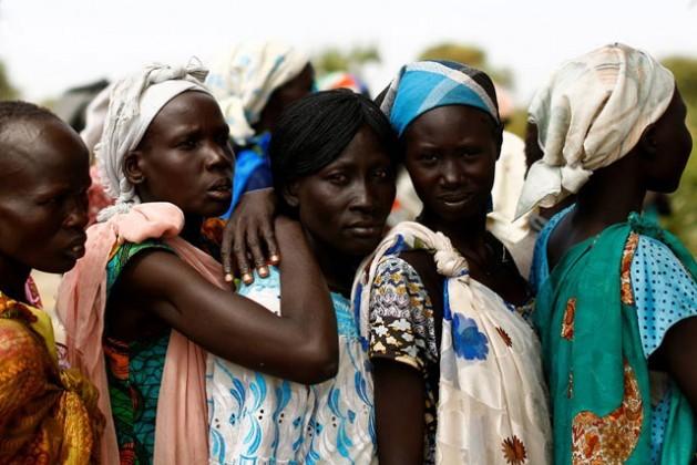 Las mujeres de la aldea de Rubkuai, en el estado sursudanés de Unidad, el 16 de febrero de 2017. Crédito: FAO