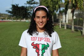 Angeline Figueroa, atleta de la UPR Cayey. (Osvaldo Cortés/ Diálogo)