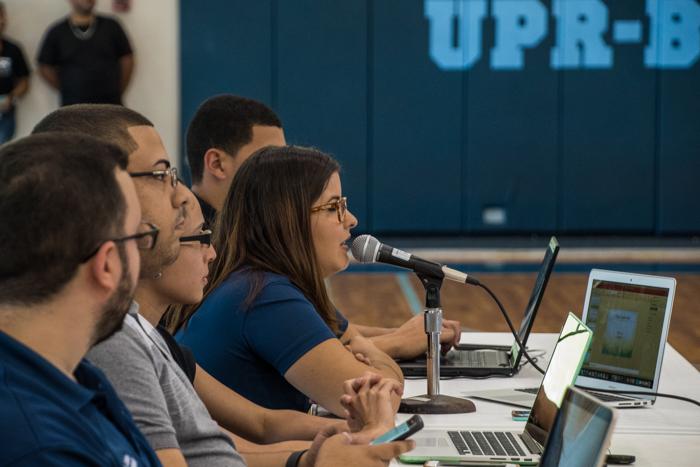 Karla Padró del Río, presidenta del Consejo General de Estudiantes de la UPR en Bayamón, y quien lideró el trámite parlamentario. (Gabriella Báez Reyes / Diálogo)
