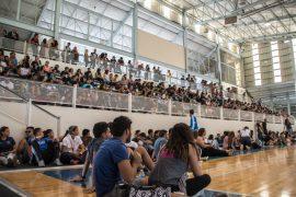 Es la segunda asamblea general que celebra en lo que va de año. Participaron sobre 490 estudiantes. (Gabriella Báez Reyes / Diálogo)