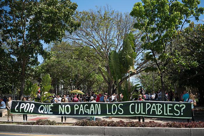 Marcha en contra de la JCF. (Pablo Pantoja)