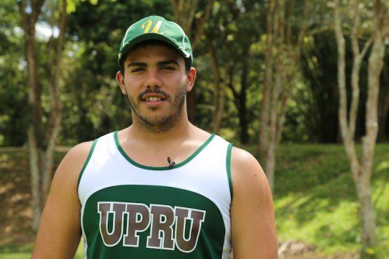 atleta de UPR Utuado. (Viviana Tirado/ Diálogo)