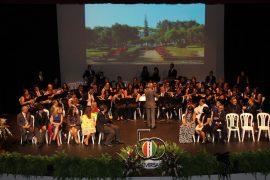 La Banda de Conciertos de la UPR Cayey durante la celebración del Cuadro de Honor 2017. (Suministrada)