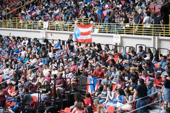 Asamblea Nacional de Estudiantes en el Coliseo Roberto Clemente, celebrada el 5 de abril. (Suministrado / Pablo Pantoja)