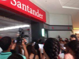 Manifestación en el Banco Santander