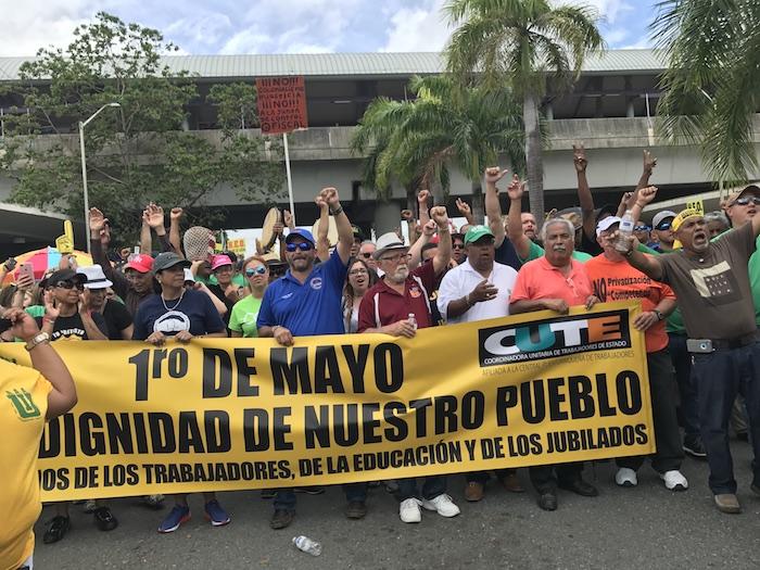Líderes de los sindicatos en el Paro Nacional. (Adriana De Jesús Salamán/Diálogo)