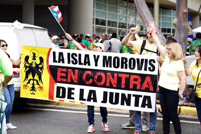 Pancarta de apoyo en el Paro Nacional (Carla Pérez/Diálogo)