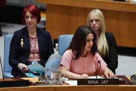 Mina Jaf, fundadora y directora ejecutiva de la organización Women's Refugee Route. Crédito: Evan Schneider/UN Photo.
