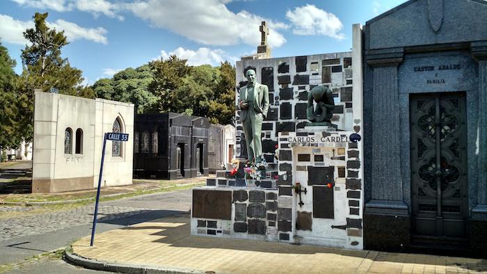La tumba de Carlos Gardel