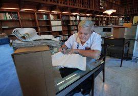Fernando Picó en el Archivo General de Puerto Rico/noviembre 2009
