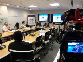 Conferencia de prensa sobre el informe del Fida realizada el 14 de junio en la Fundación de las Naciones Unidas, Nueva York. Crédito: Fida.