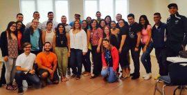 Miembros de organizaciones estudiantiles de UPR Bayamon