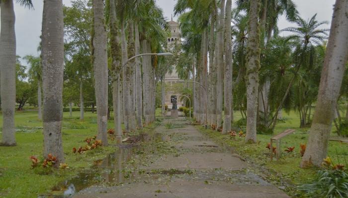 Así lució la entrada hacia la Torre desde la avenida Ponce de León. (Andrés Santana Miranda / Diálogo)