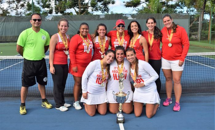 Las Jerezanas de la UPR de Río Piedras son las nuevas campeonas del tenis universitario. (Zacha Acosta)