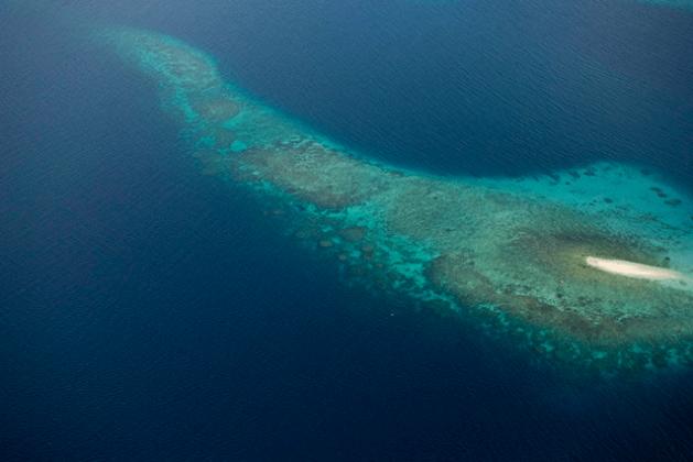 Vista aérea de la laguna Marovo, en Islas Salomón. Crédito: Eskinder Debebe/UN Photo.