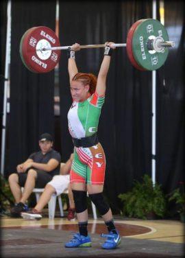 Sanjelle Fabus de la UPR de Cayey con nueva marca para los 58 kilos. (Fernando Neris)