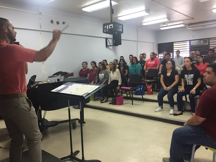 Coro de la UPR en Arecibo. (Suministrada)