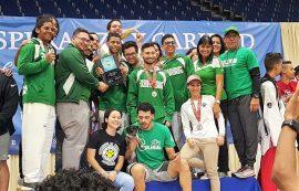 Los Tarzanes del Colegio campeones del taekwondo. (Suministrada)