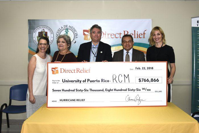 Donativo de Direct Relief al RCM