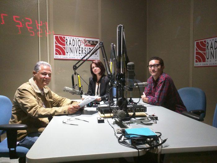 Roberto Morales, Michelle Diaz, presentadores. Johstean Santiago, producción. (Suministrada)