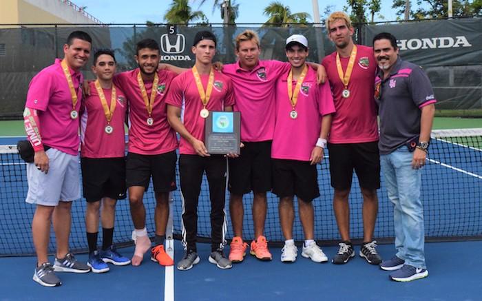 Los Cocodrilos de la UMEt ganan el primer campeonato en la LAI en el tenis. (Z. Acosta LAI)