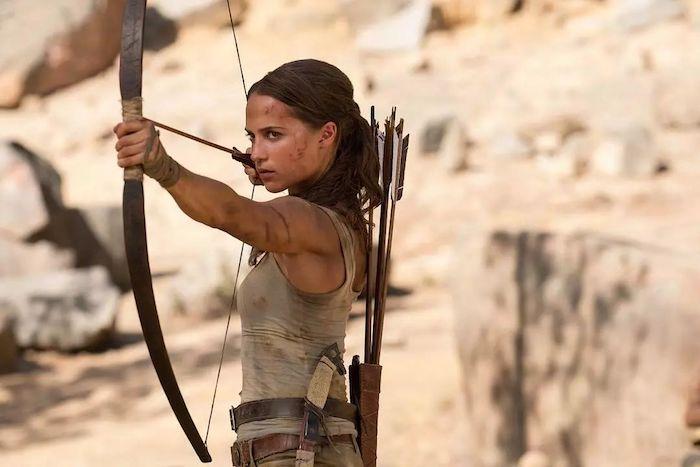 Vikander como Lara Croft