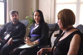 Larry Zayas, Kimberly Vazquez y Cari Luz Ortiz. (Naomi Ramirez/ Diálogo)