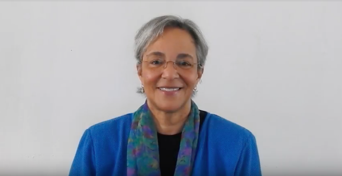 Anny Morrobel Sosa, aspirante a la presidencia UPR. (Captura de pantalla)