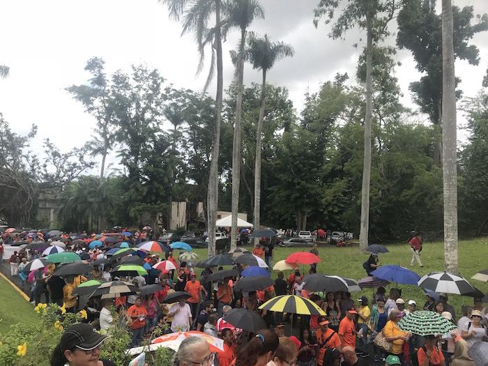 manifestación en Jardín Botánico