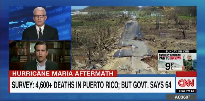 El gobernador participó el jueves, 31 de mayo en el programa de Anderson Cooper 360 de CNN.