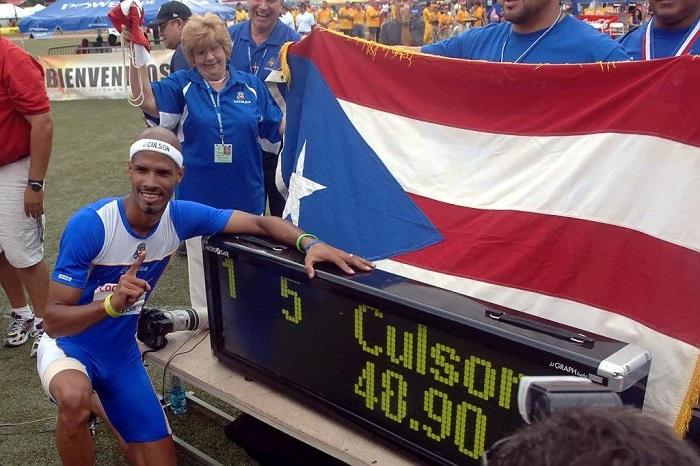 Javier Culson cuando rompio la marca de la LAI (L Minguela LAI)