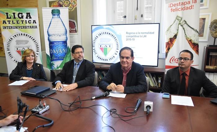 Conferencia de prensa del inicio deportivo de la LAI. (L. Minguela LAI)