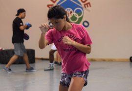 Joangeli Velez aceptó el reto de ECEDAO en la disciplina de boxeo (Z. Acosta)