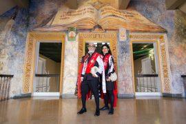 Don Goyo y la nueva directora de la Tuna UPR Edithmarie Claudio 4