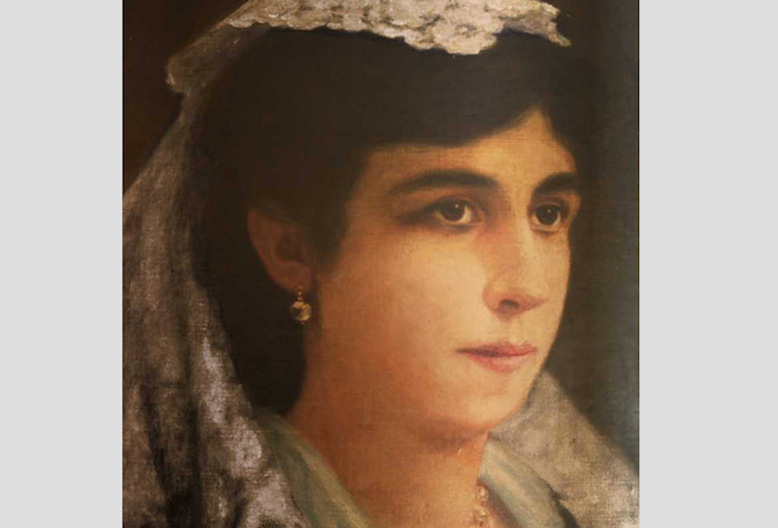 oleo de esposa de Hostos, Belinda Ayala de Quintana