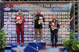La boricua Adriana Diaz campeona de la Copa ITTF Panamericana 2019. (José Hudo Castañer ITTF) (2)