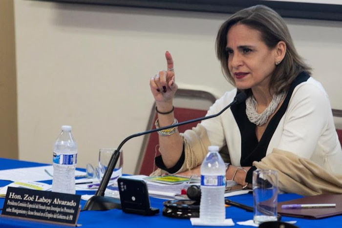 Zoe Laboy suministrada prensa senado